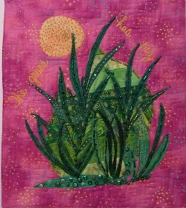 INTENSIVELY BEADED ART QUILT