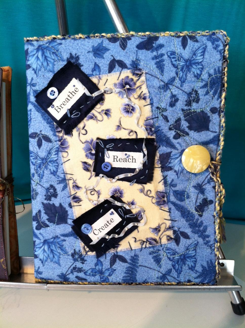 Collaged Fabric Journal Cover