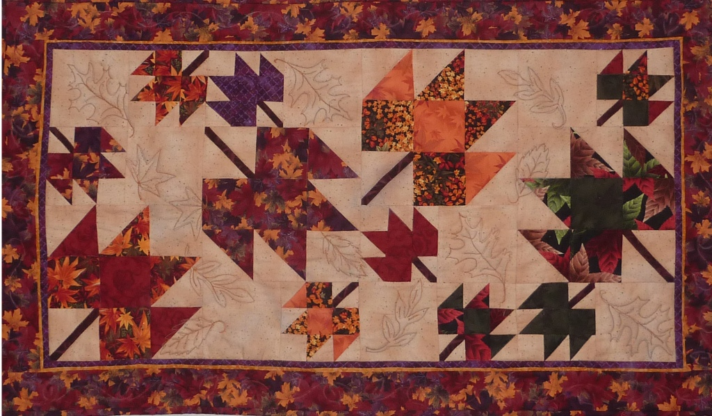 Tumbling Leaves Wall Hanging or Table Topper