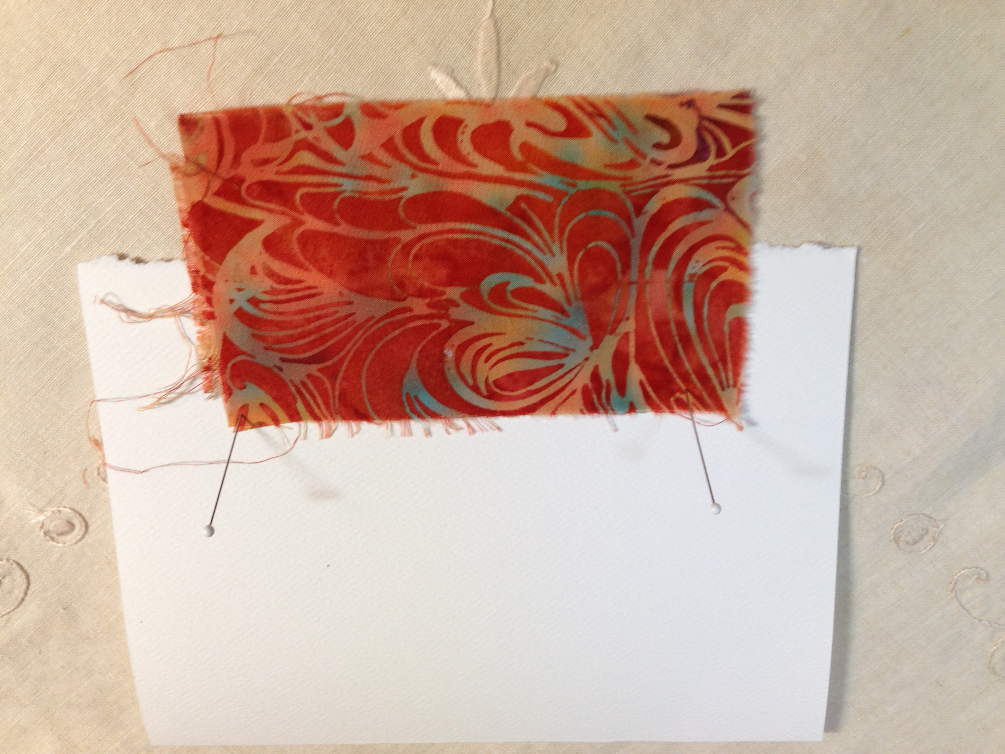 Tutorial Fiber Art Collage Greeting Cards Guilas Art Other