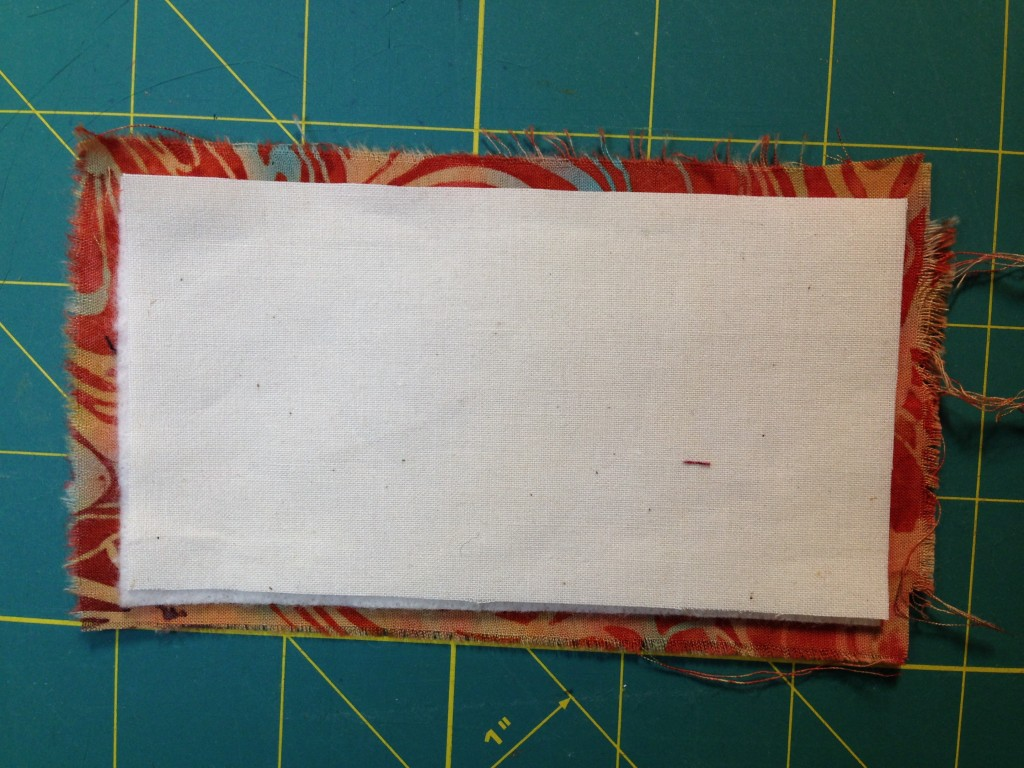 Stabilizer of your choice added to wrong side of background fabric