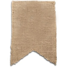 burlap for flags
